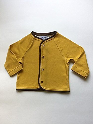 e29bcb975 Amazon.com  Infant and Toddler Cardigan - Mustard Yellow and Brown ...