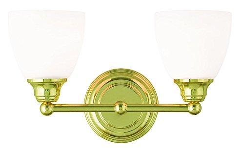 Livex Lighting 13662-02 Somerville 2-Light Bath Light, Polished (02 Polished Brass Bath)