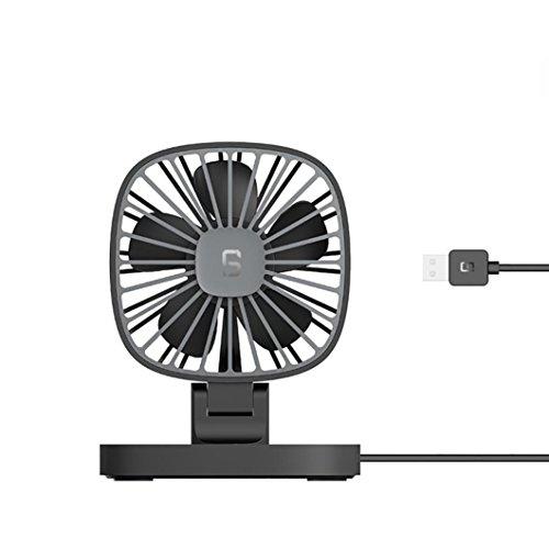 Waymine Mini Ventilador Portátil DE 12 V USB para Coche, refrigerador de Aire Acondicionado de computadora, Negro