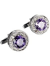 Unique Design Stylish Modern Luxury Crystal Blue Stone Cufflinks for Shirt Wedding Business