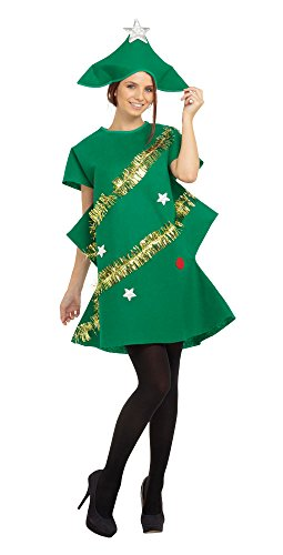 Adult Christmas Outfit (Green Ladies Christmas Tree Costume)