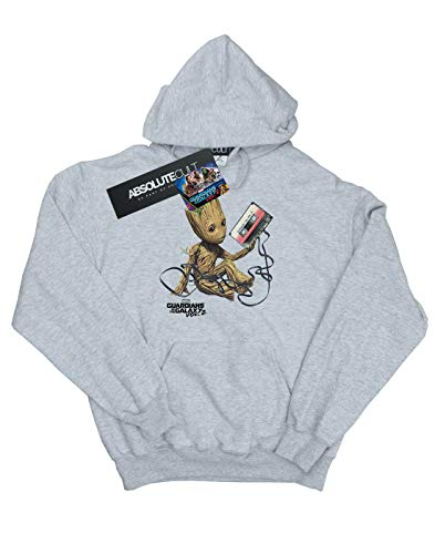 Guardians Groot The deportiva para con Marvel Sudadera Of hombre capucha Galaxy gris 8qIZwnT