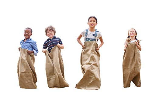Mandala Crafts Burlap Potato Sack for Race Game for Kids and Adults, Garden, Outdoor Party, Storage, Plant Growing; 6 Pack]()
