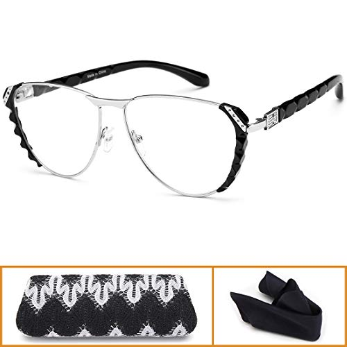 Thin Optics Reading Glasses for Womens - Best Designer Computer Readers Fashion Ladies Quality Eyeglass +3.0 (Eye Designer)