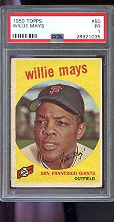 Amazoncom 1959 Topps 50 Willie Mays San Francisco Giants