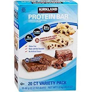 Amazon.com: Kirkland Signature Protein bar energy variety pack, 20 Count: Health & Personal Care