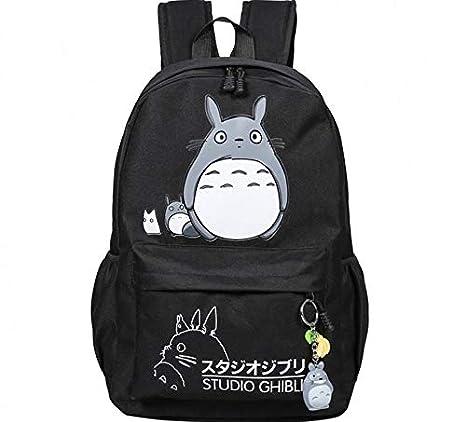 10539f0bf5 Thedmhom 1 Pcs New Cute Kawaii Animal Classic Cartoon Anime Black Canvas  Totoro Backpack Stationery Fashion