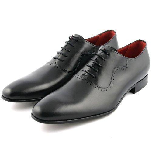 Exclusif Paris Nabab Cuir Noir, Chaussures de ville homme Cuir Noir Taille 40,5