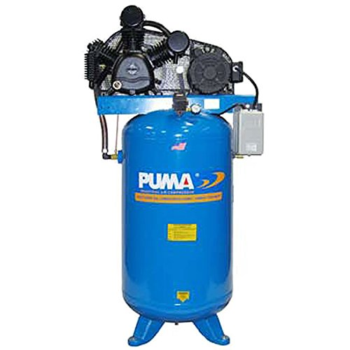 Puma Industries TUK-5080VM Air Compressor, Professional/Commercial/Industrial Two Stage Belt Drive Series, 5 hp Running, 175 Maximum psi, 230/1V/Phase, 80 gal, 560 lb. by Puma Industries