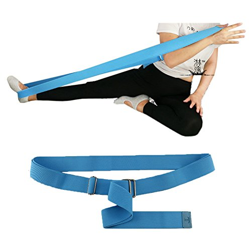Ueasy Meditation Seat Belt Healthy Posture Support Strap for Comfortable Sitting and Meditation in the Lotus Asana Position (Blue)