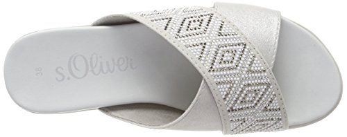 s.Oliver Women's 27201 Mules Grey (Grey Comb) dmJLgm