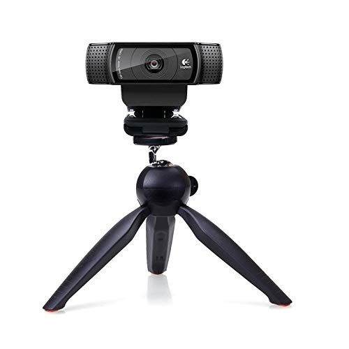 Webcam Tripod Mount Holder Stand for Logitech Webcam C922 C930e C930 C920 C615 (Black) Bulk4buy