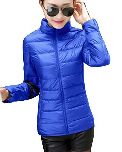 de LaoZanA Ligero Plumas Plumón Portátil Azul3 Chaqueta Abrigo Mujer qPFpCP