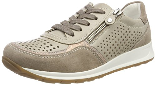 Para Rosegold fossil Osaka taupe Zapatillas Beige Mujer Ara 1YETqww