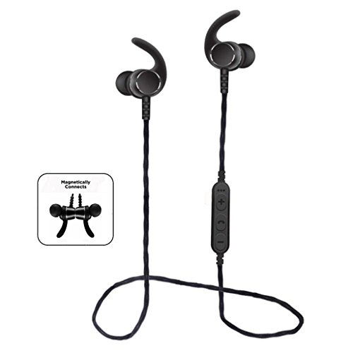 Pototo Bluetooth Headphone in Ear Magnetic Headset Wireless Headphones Waterproof Stereo Sports Headphones with Microfron for All The Bluetooth Devices