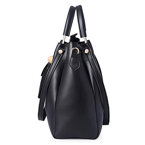 Speed X Fashion Women's Hand Bag Combo (Black)