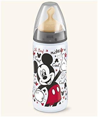 Nuk Biberon First Choice Disney Mickey Mouse 0%BPA Latex 2L 300 ml. Rojo o Negro