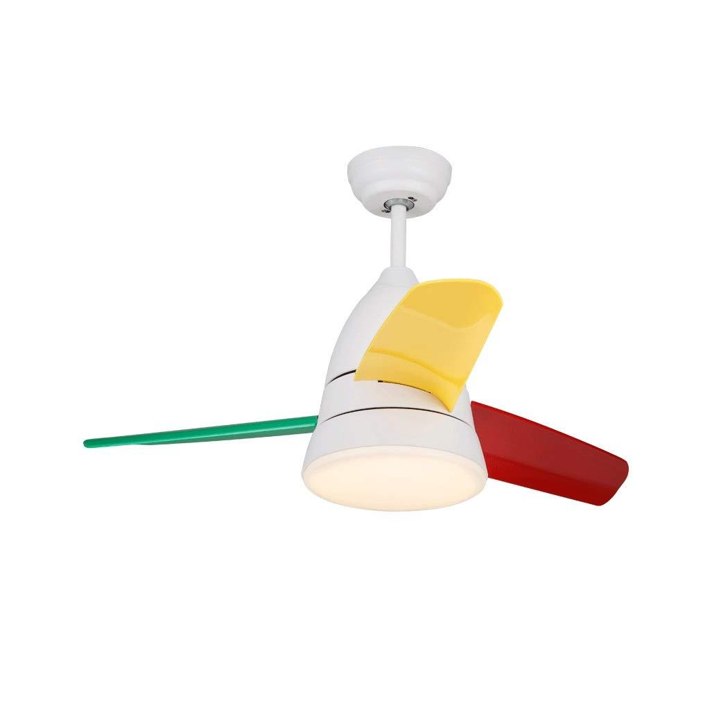LEDシーリングライト家庭用シャンデリアファン子供部屋扇風機付き(26インチ、36インチ) (色 : マルチカラー まるちから゜, サイズ さいず : 26 inches) B07RSYK8DG マルチカラー まるちから゜ 26 inches