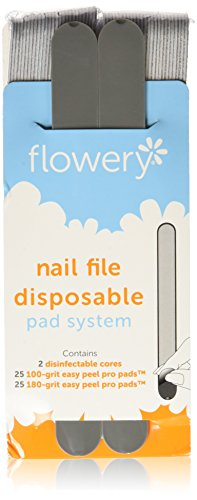 (Flowery Nail File Disposable Pad System Kit)