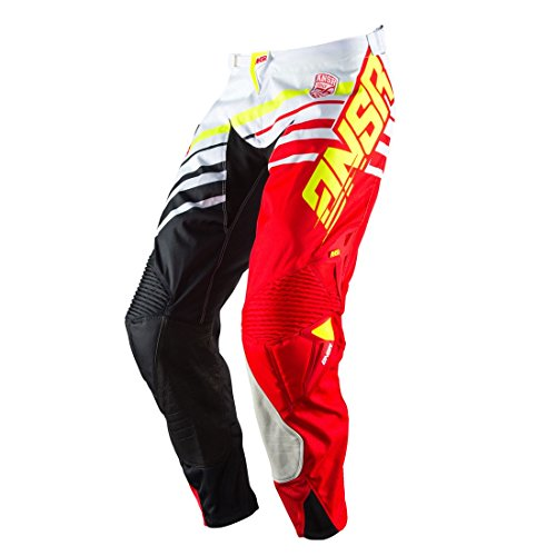 Answer Racing A17 Alpha Pants White/Red/Black 34