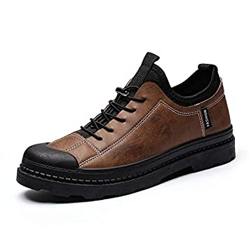 Shukun Botines Retro Autumn Martin Shoes Retro Men s Shoes Short Boots Casual Low para