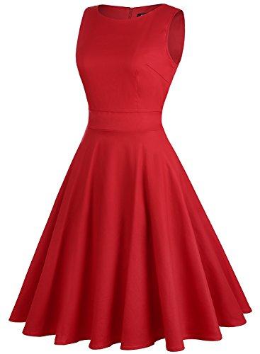 Red Sera Vestito Vestito OWIN Donna Sera OWIN Donna Red UxBqt1wd