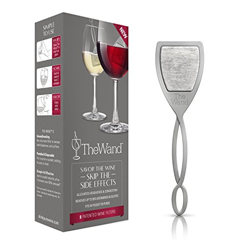 The Wand by PureWine | Removes Histamines & Sulfite Preservatives, By-the-Glass | No More Wine Headaches (8-pack) ()