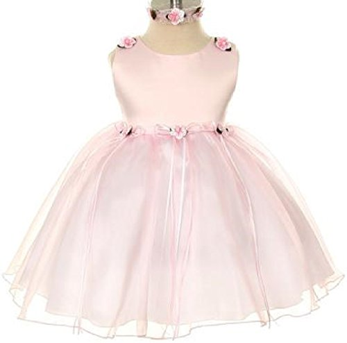 1bbd95c0a0 Galleon - Rosebud Flower Bow Ribbons Baby Little Girl Flower Girls Dresses  (19KD3) Pink M
