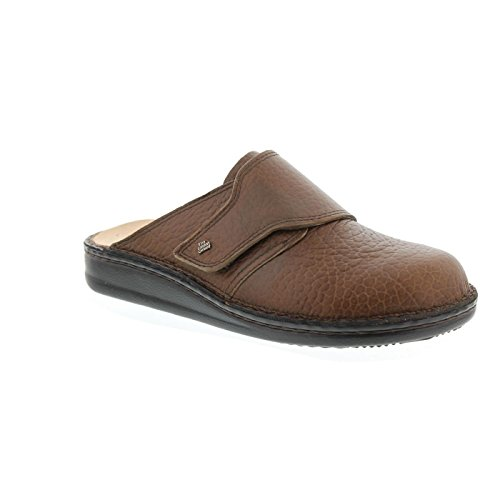 Finn Comfort Mens Amalfi Leather Sandals Marron