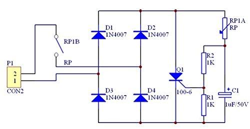 UTP Unidirectional thyristor dimmable lamp circuit board dimmable lamp circuit board kit teach ng training kit DIY