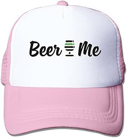 Beer Me Logo Mesh Hat Grid Cap Trucker Hat Unisex RoyalBlue