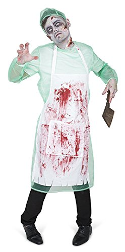 Naughty Halloween Costumes For Men (Men's Zombie Mortician Costume - Halloween Costume Party Accessory - Large)