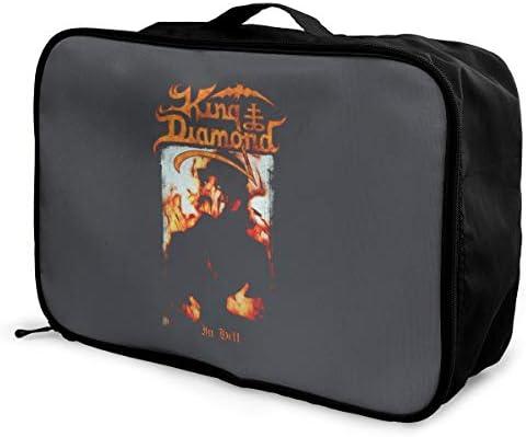 アレンジケース キング ダイアモンド 旅行用トロリーバッグ 旅行用サブバッグ 軽量 ポータブル荷物バッグ 衣類収納ケース キャリーオンバッグ 旅行圧縮バッグ キャリーケース 固定 出張パッキング 大容量 トラベルバッグ ボストンバッグ