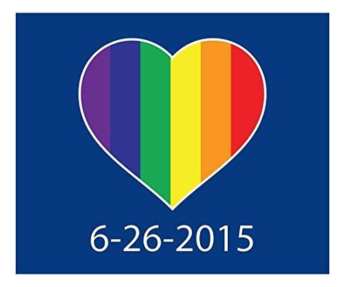 Removable Wall Sticker Wall Mural Pride Flag Gay Pride Flag LGBT Pride Flag Rainbow Heart 6 26 2015 Creative Window View Wall Decor