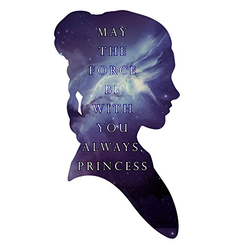 Princess Outline May The Force Be With You Leia Silhouette Carrie RIP Sticker 5