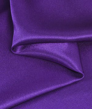 Purple Crepe Back Satin Fabric - by the Yard