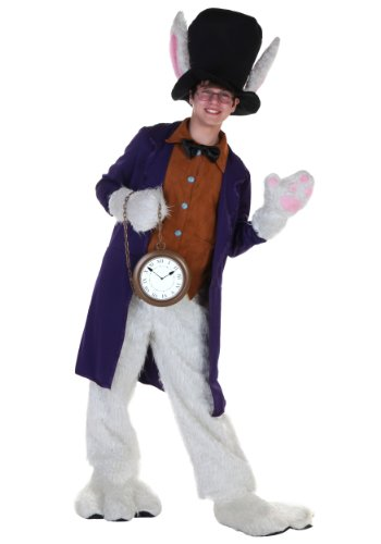 White Rabbit Costume Ladies (Fun Costumes boys Teen White Rabbit Costume Teen)