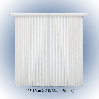 Bali Blinds 78-Inch-by-84-Inch Ribbed Vane Vinyl Vertical Blind, White - Bali Vinyl Blinds