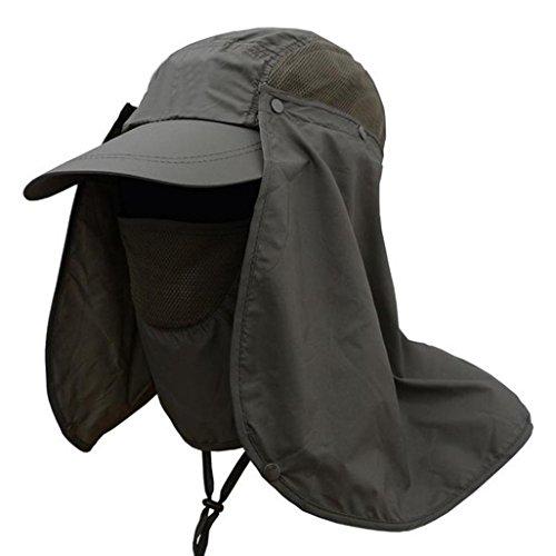 0cc46d368 Folding Sun Hat 360° UV Protection Mask Cap for Men Women Hiking ...