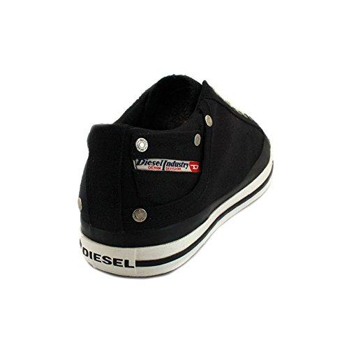 Negro Zapatillas Diesel Magnete para hombre Low Exposure WxxTBfZa