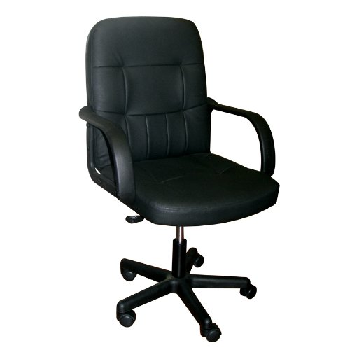 Home Source Industries HT-820 Adjustable Executive Chair with Armrests, Black