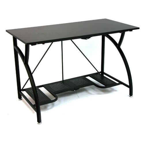 NEW!!! Unique Modern Style Fast Fold Compact Metal Computer Desk / Office Desk in Black