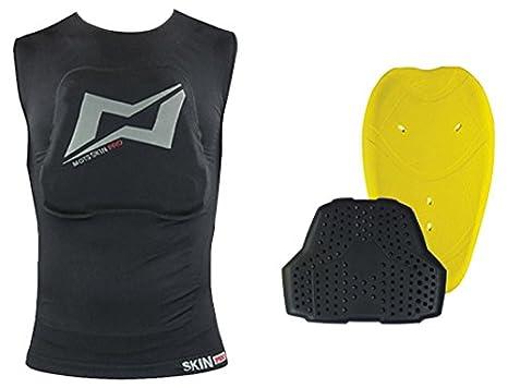 Talla XXS Negro Mots MT5120XXS Chaleco Skin con Protecciones Espalda y Pecho Incluidas
