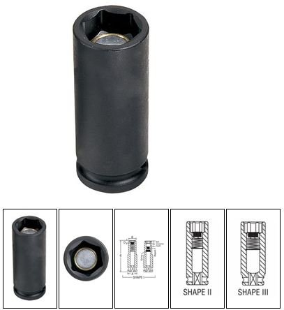 Grey Pneumatic 1020DUP Spark Plug Socket
