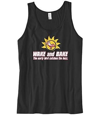 Cybertela Men's Wake And Bake.. Funny Weed Marijuana 420 Tank Top