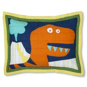 Circo Dino Embroidery Quilted Sham - Standard