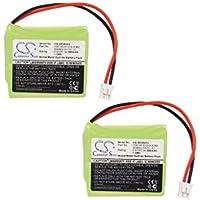 Cameron Sino 2-Pack 500mAh Cordless Phone Battery for Siemens V30145-K1310-X382 S30852-D1751-X1 Gigaset E40, Gigaset E450, Gigaset E450 ECO, Gigaset E455, Gigaset E455 SIM Twin, Gigaset E450 SIM