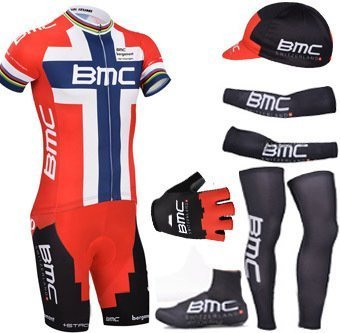 BMC 2015 cycling clothing includes 2015 bike shorts with mesh warms muscles  and half finger gloves 0cdb3f51f
