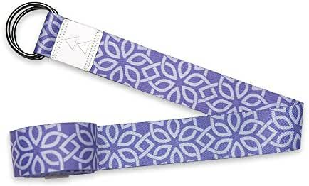 Luxury Yoga Strap by Yoga Design Lab. Extra-long, Super-soft, Printed Yoga Strap Designed to Love You Into Every Aspect of Your Beautiful Practice. 8ft.
