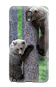 Top Quality Case Cover For Galaxy Note 3 Case With Nice Bear Cubs Tree Climbing Appearance
